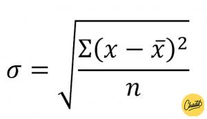 De standaardafwijking berekenen